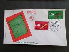 FRANCE, 1972, FDC 1° JOUR, ANNEE DU CODE POSTAL, VF