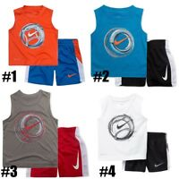 New Nike Little Boys Dri-FIT Tank Top & Shorts Set Choose Size Color MSRP $36.00