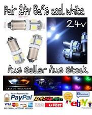 4x 24V LED T11 BA9S T4W 1895 truck caravan light bulb globe dash side lamp ect