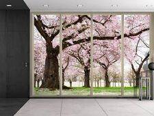 Wall26 - Petals Falling from Cherry Blossom Trees - Creative Wall Mural- 66x96