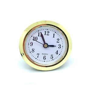 5 PCS Desk Table Clock 50 mm Roman Gold Round Living Dining Study Office Room