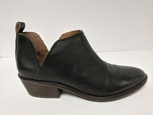 Lucky Brand Fayth 2 Bootie, Black Leather, Women's 8.5 M