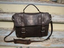 FRYE Brown Leather Logan Top Handle Briefcase Messenger Travel Carry On Laptop
