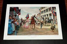 Mort Kunstler - Jackson Entering Winchester -  Collectible Civil War Print