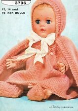 "Dolls clothes knitting pattern for 12"" 14"" &16"" doll.   (V Doll 51)"
