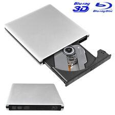 Extern DVD CD Blu-Ray Brenner Leser Schreiber Laufwerk USB 3.0 Für PC Laptop Mac