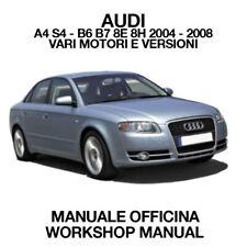 AUDI A4 S4 B6 B7 8E 8H 2004 2008. Service Manuale Officina Riparazione Workshop