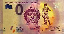 BILLET 0 EURO SOUVENIR  TOURISTIQUE DAVID DI MICHELANGELO FIRENZE 2018-1