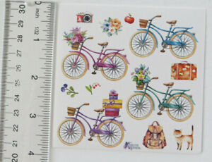Violette Stickers - BICYCLES - 4x4 Square Sheet of Stickers #K70