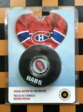 2009  CANADA NHL MONTREAL CANADIENS 50 cent  COIN AND PUCK SPECIAL EDITION