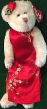 "TY Attic Treasure ""MEI LI"" Wedding Dress TEDDY BEAR #6272 RED Tag 8"" MWMT PLUSH"