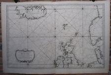 Antique Print-NORTH SEA-ICELAND-SCOTLAND-NORWAY-IRELAND-Bellin-1768