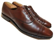ALLEN EDMONDS Fifth Avenue Mens 10.5 A Narrow Brown Leather Cap Toe Dress Shoes