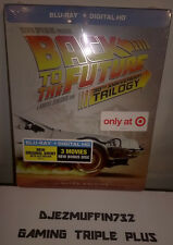 BACK TO THE FUTURE TRILOGY 30TH ANNIVERSARY STEELBOOK BLU-RAY + DIG HD (LE) OOP
