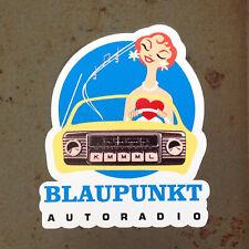 BLAUPUNKT Autoradio Vintage Sports Car Racing Decal for Volkswagen and Porsche