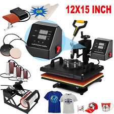 8 in 1 Heat Press Machine Swing Away Digital Sublimation T-shirt Mug Plate Hat
