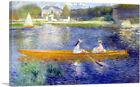 ARTCANVAS The Skiff 1875 Canvas Art Print by Pierre-Auguste Renoir
