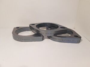 """FREE GASKETS - 6x 3"""" exhaust flanges 76MM 2 bolt Value Buy"""