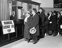 """1915-1920 Line for Marriage License Vintage/ Old Photo 8.5"""" x 11"""" Reprint"""