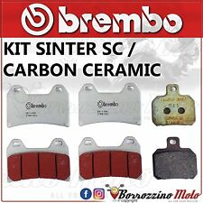 KIT PLAQUETTES FREIN BREMBO AVANT SC+ ARRIERE MV AGUSTA BRUTALE DRAGSTER RR ABS