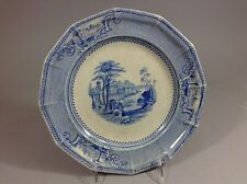 Antique Staffordshire blue Transferware Palestine Pat Ridgeway 19C