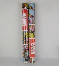 2 X Marvel Superhero Wall Paper Rolls 10m X 0.52m