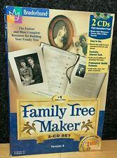 Broderbund Family Tree Maker CD Set VERSION 4 Windows 95 and 98