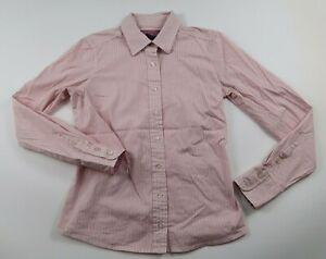 Vineyard Vines Womens Stretch LS Button Down Pink White Striped Shirt Size 0