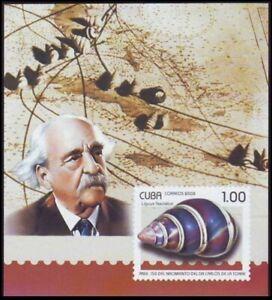 2008 MNH MS, Air-breathing land snail, Tree snail, Carlos de la Torre research o
