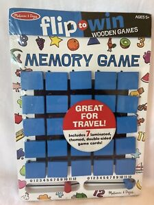 Melissa Doug Flip to Win Travel Memory Wooden Game #2090 NEW Sealed