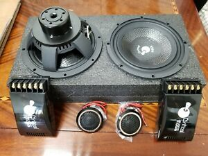 CRITICAL MASS 2ohm 6.5'' COMPONENT 2WAY SPEAKER BEST FOCAL AUDIO JL BE MOREL USA