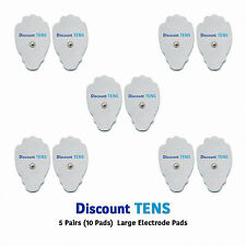 TENS Large Snap On Electrode Pads, 5 Pairs (10 Pads)