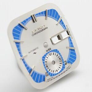 Dial For Seiko Monaco Flyback Chron 7016 7016-5011 Blue & Silver Part # 5010