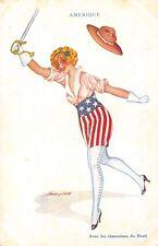 4561) WW1, SOLDATO DONNA ALLEATA, L'AMERICA.