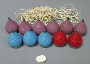 Royal Vintage Wooden Spinning Tops With Strings [11]