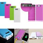 30000mAh Dual USB Power Bank Case 8x 18650 Battery Charger DIY Box Kit For Phone