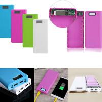 30000mAh Portable External Dual USB Power Bank Box Battery Charger Case Fr Phone