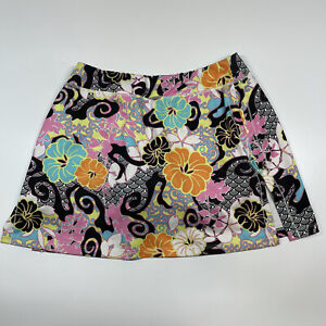 Athleta Tear Away B4 U Play Floral Print Multicolor Tennis Skort Size Medium