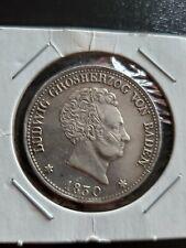 1830 silver Germany Baden Kronenthaler Ludwig Thaler
