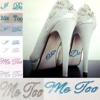 Wedding I DO ME TOO Set He's Mine Diamante Rhinestone Shoe Groom Bride Stickers