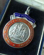 Silver Agriculture Fob Medal for British National Championship - Ploughing 1965