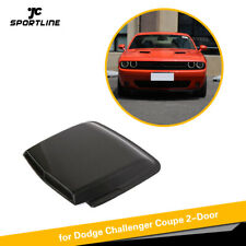 For Dodge Challenger Hood Vent Louver Air Flow Trim Intake Scoop Cover Carbon