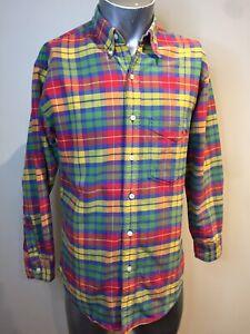 GAP Rainbow Check Small Long Sleeve Shirt Made In Northern Mariana Islands