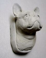 CONCRETE FRENCH BULLDOG STATUE WALL HANGER,WALL PLAQUE,GRAVE MARKER, MEMORIAL