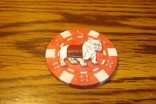 USMC MARINES Bulldog emblem Poker Chip,Golf Ball Marker,Card Guard Red/White