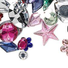 Bead/Beads Sewing Embellishments Mixed DRILLED Acrylic RHINESTONES 100g 600 Pcs