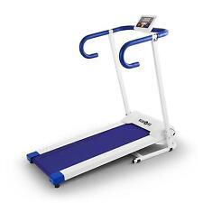 Tapis De Course Klarfit Pacemaker X1 Running Cardio Training Fitness Blanc/Bleu