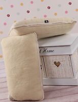 TWO 100% Merino Wool Pillowcase 45 x 75 cm *NEW Pillow cover WOOLMARK IDEAL GIFT