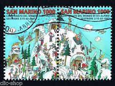 SAN MARINO 2 FRANCOBOLLI CAMPIONATO DEL MONDO SCI ALPIN. SESTRIERE 1997 usato