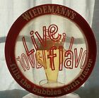 Vintage Wiedemann Clear Plastic Bubble Beer Sign - Rare